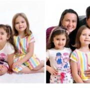 Hermanas, las protagonistas del video viral del pastel