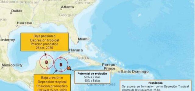 Posible depresión tropical, traería fuertes lluvias a Yucatán