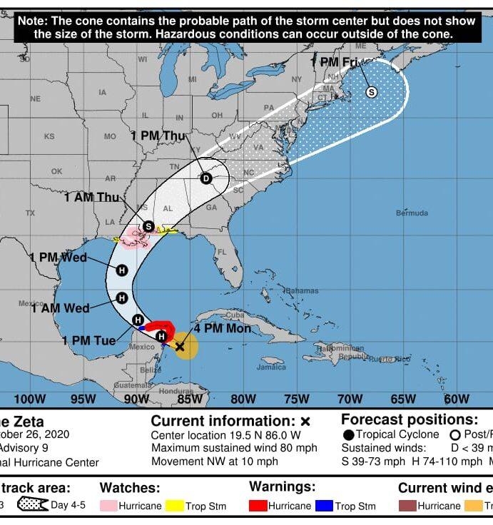 Zeta pasará aún más cerca de Mérida, según pronósticos