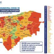 Sigue aumentando el coronavirus en Yucatán, hoy 129 nuevos contagios