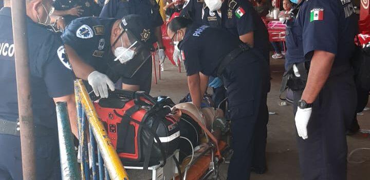 Fallece abuelito que sufrió un infarto en el mercado San Benito