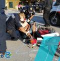 Padre e hijo son enviados al hospital, tras choque