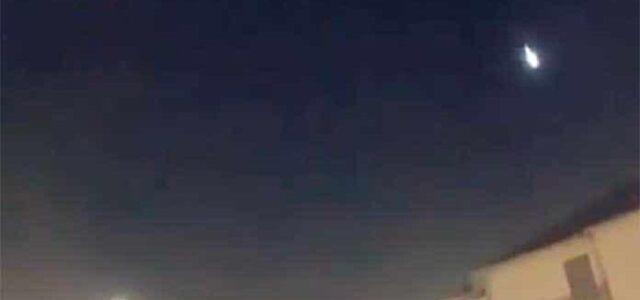 Se observa meteorito cerca de Tamaulipas