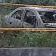 Encuentran auto calcinado en el poniente de Mérida